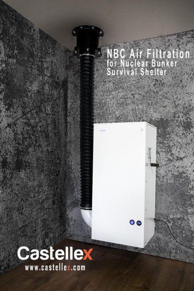 Castellex Air350 Nbc Air Filtration System For Nuclear Bunker Survival Shelter 400x600